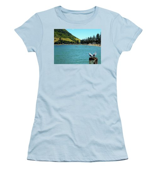 Pilot Bay Beach 5 - Mt Maunganui Tauranga New Zealand Women's T-Shirt (Athletic Fit)