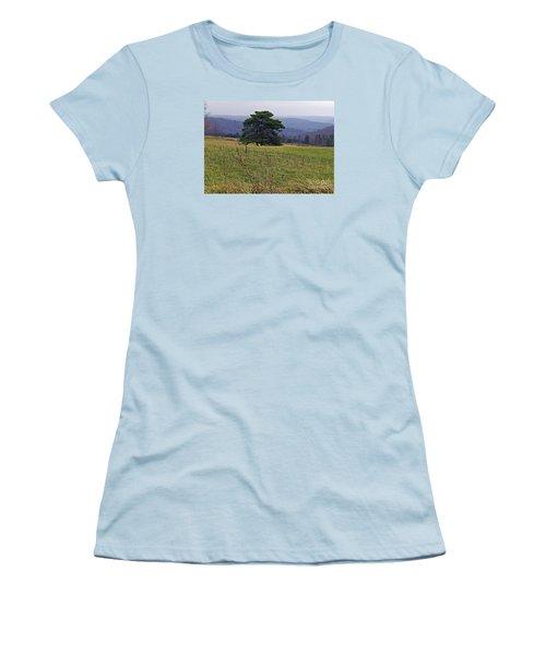 Pine On Sentry Women's T-Shirt (Junior Cut) by Christian Mattison