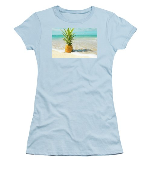 Women's T-Shirt (Athletic Fit) featuring the photograph Pineapple Beach by Sharon Mau