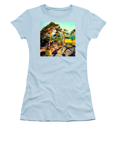 Pines On The Rocks Women's T-Shirt (Athletic Fit)