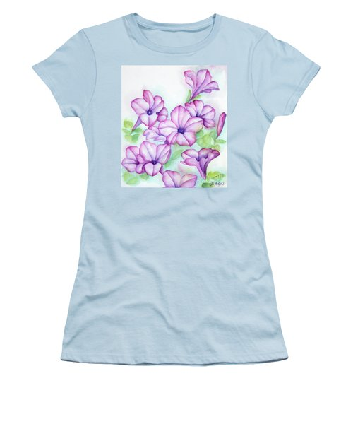 Pink And Purple Women's T-Shirt (Athletic Fit)