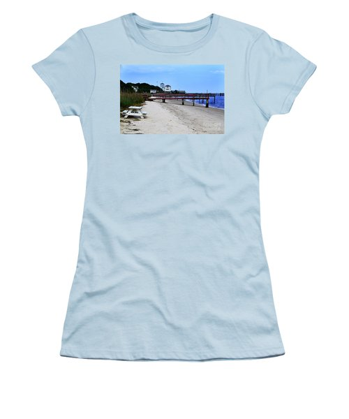 Pink Pier Southport, North Carolina Women's T-Shirt (Athletic Fit)