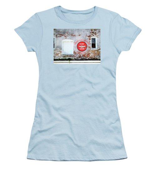 Women's T-Shirt (Junior Cut) featuring the digital art Play Ball With Flying A by Sandy MacGowan