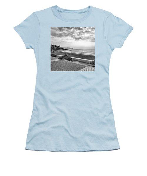 Playa Burriana, Nerja Women's T-Shirt (Junior Cut) by John Edwards