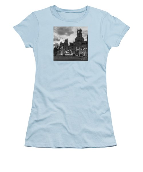 Plaza De Cibeles Fountain Madrid Spain Women's T-Shirt (Athletic Fit)