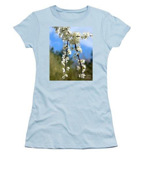 Plum Tree Blossoms Women's T-Shirt (Junior Cut) by Stephen Melia