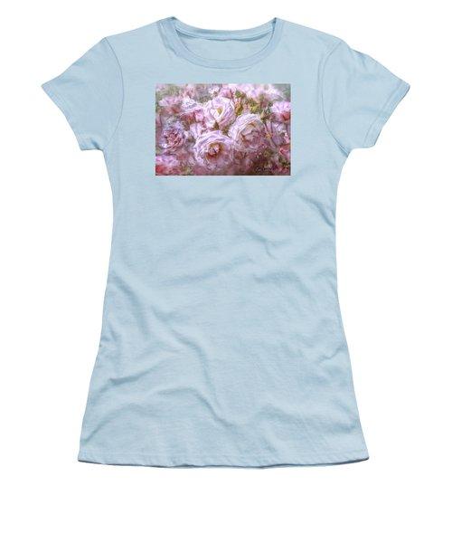 Women's T-Shirt (Junior Cut) featuring the digital art Pocket Full Of Roses by Kari Nanstad