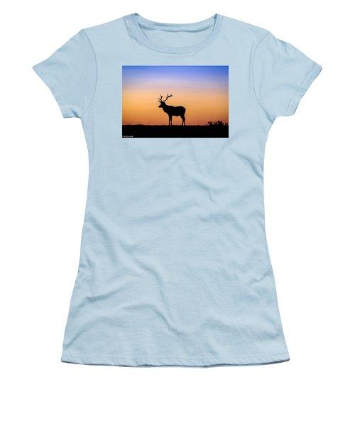 Point Reyes Elk Women's T-Shirt (Athletic Fit)