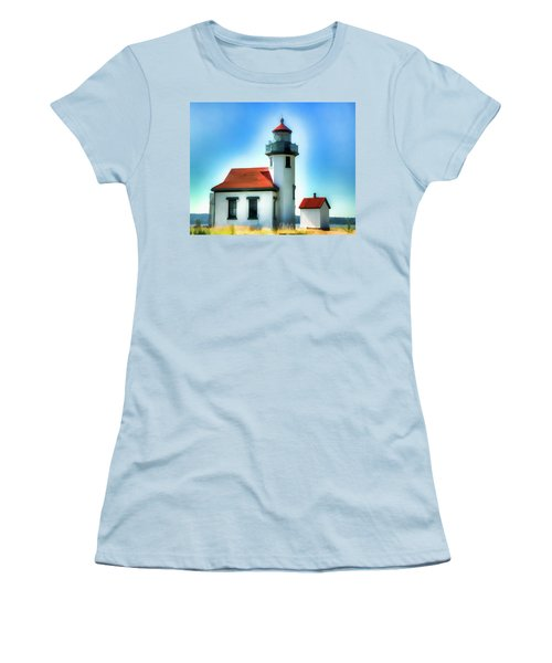 Point Robinson Lighthouse Women's T-Shirt (Athletic Fit)