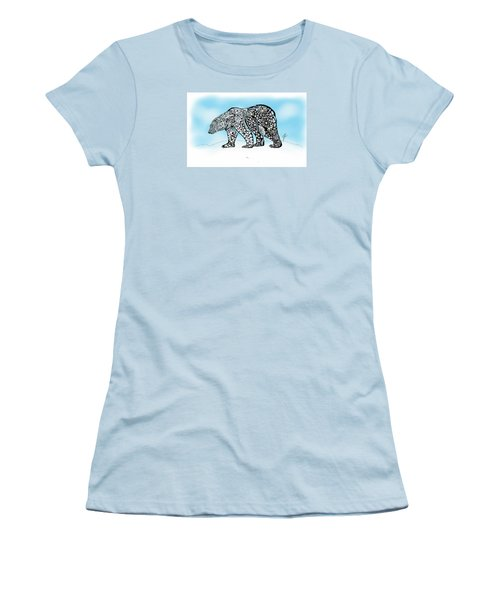 Polar Bear Doodle Women's T-Shirt (Athletic Fit)