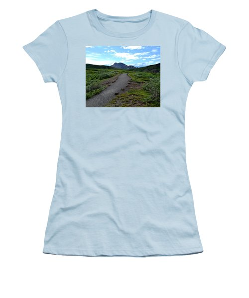 Polychrome Pass Trail, Denali Women's T-Shirt (Athletic Fit)