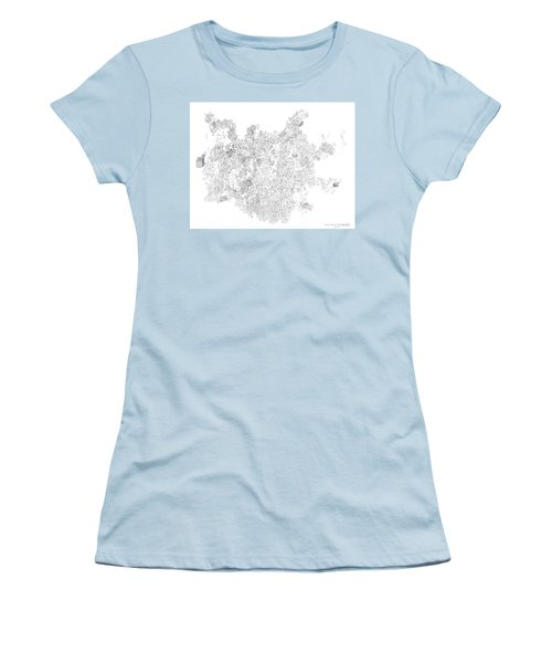 Polymer Crystallization With Modifiers Women's T-Shirt (Athletic Fit)