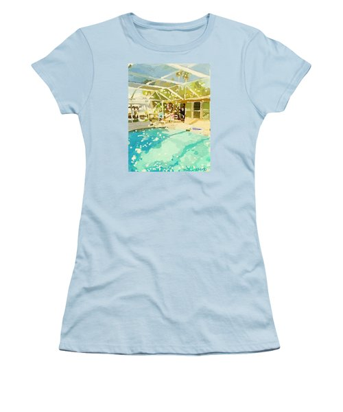 Pool And Screened Pool House Women's T-Shirt (Athletic Fit)