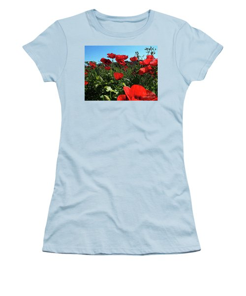 Poppies. Women's T-Shirt (Athletic Fit)