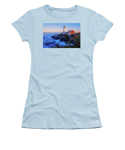 Portland Head Light II Women's T-Shirt (Junior Cut) by Chad Dutson
