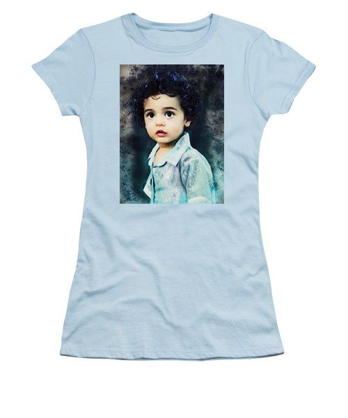 Portrait Of A Child Women's T-Shirt (Athletic Fit)