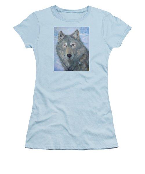Portrait Of A Wolf Women's T-Shirt (Athletic Fit)
