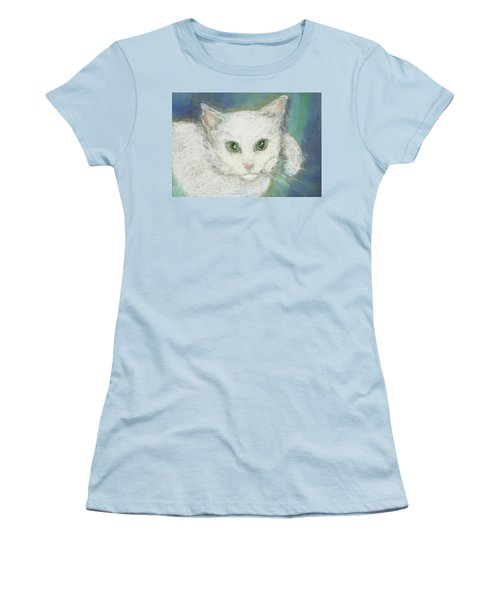 Portrait Of Misty Women's T-Shirt (Junior Cut) by Denise Fulmer