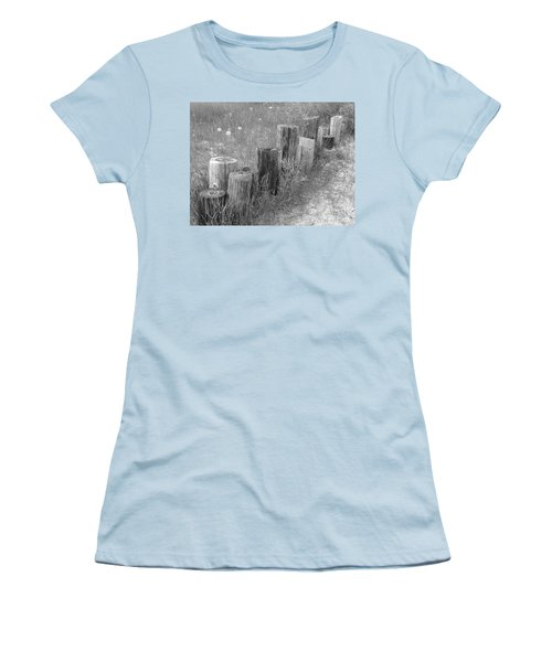 Posts In A Row Women's T-Shirt (Junior Cut) by Erick Schmidt