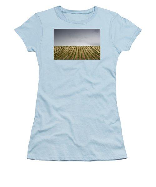 Potato Field Women's T-Shirt (Junior Cut) by John Short
