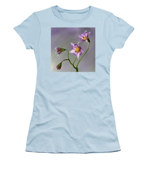 Potato Flowers Women's T-Shirt (Athletic Fit)