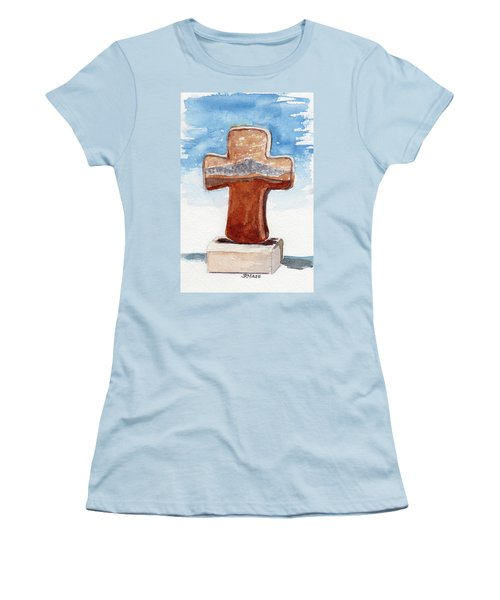 Prayer Cross Women's T-Shirt (Junior Cut)