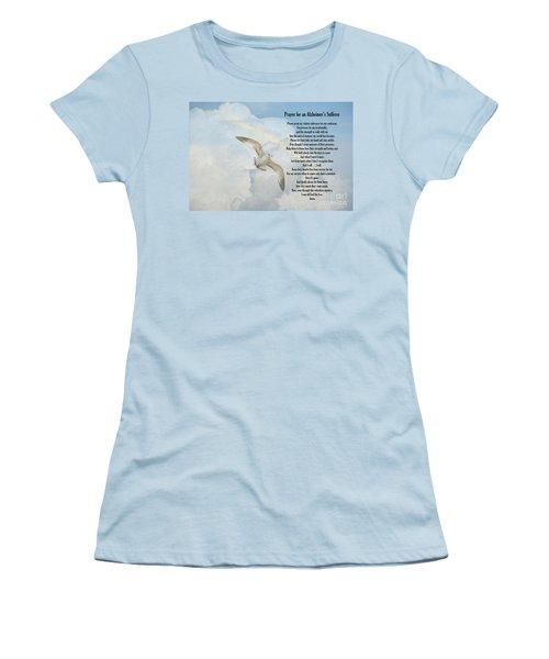 Prayer For An Alzheimer's Sufferer Women's T-Shirt (Junior Cut) by Bonnie Barry