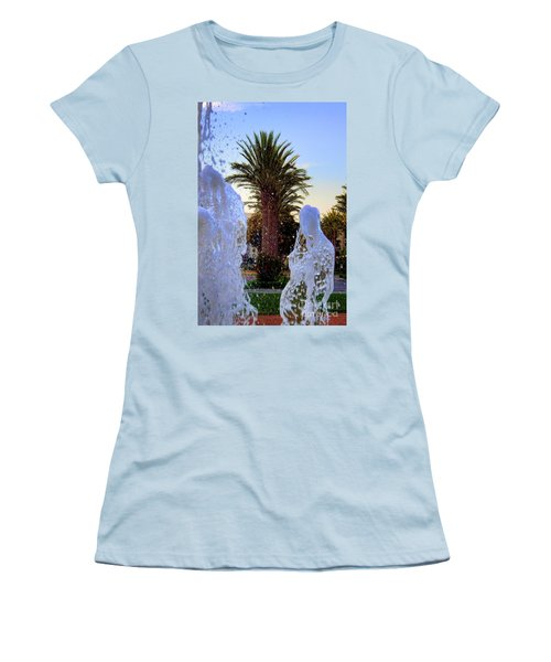 Women's T-Shirt (Junior Cut) featuring the photograph Pregnant Water Fairy by Mariola Bitner