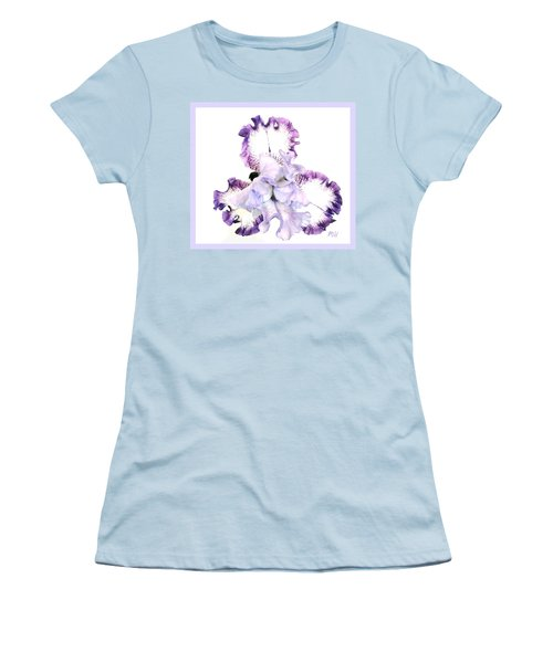 Pretty Baby Iris Women's T-Shirt (Junior Cut) by Marsha Heiken