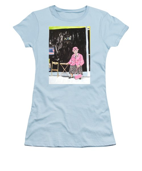 Pretty In Pink Women's T-Shirt (Junior Cut) by Esther Newman-Cohen