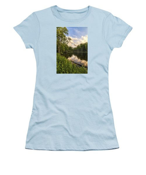 Price Lake Sunset - Blue Ridge Parkway Women's T-Shirt (Athletic Fit)