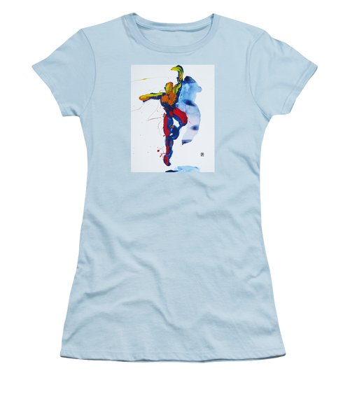 Primary Vertical Jump Shadow Women's T-Shirt (Junior Cut) by Shungaboy X