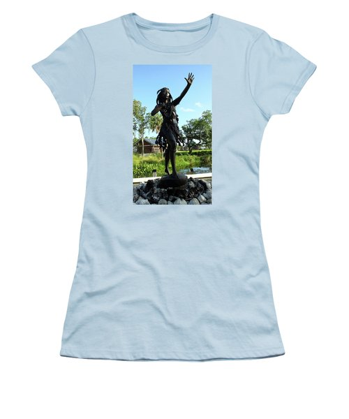 Princess Ulele Statue Women's T-Shirt (Junior Cut) by Judy Wanamaker