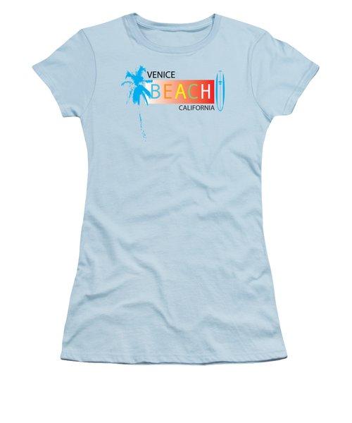 Venice Beach California T-shirts And More Women's T-Shirt (Junior Cut) by K D Graves
