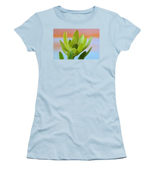 Protea Gold Strike. Women's T-Shirt (Junior Cut) by Terence Davis