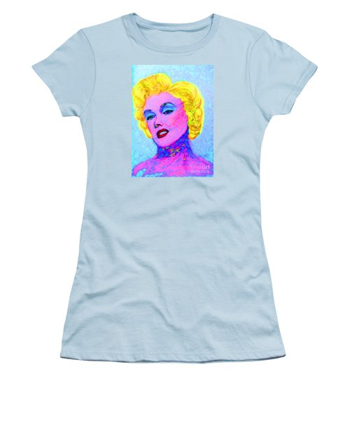 Psychedelic Marilyn Women's T-Shirt (Junior Cut) by Lyric Lucas