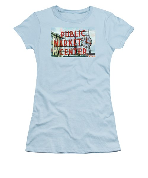 Public Market Center Women's T-Shirt (Athletic Fit)