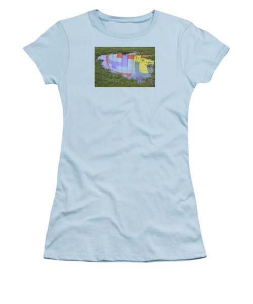 Puddle Reflections Women's T-Shirt (Junior Cut) by Linda Geiger