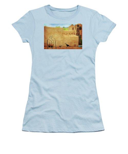 Women's T-Shirt (Junior Cut) featuring the photograph Pueblo Village Settlers by Diana Angstadt