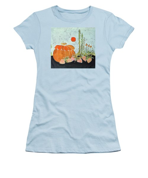 Pumpkin And Asparagus Women's T-Shirt (Athletic Fit)