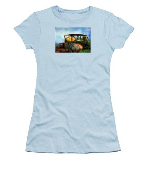 Pumpkin Harvest Respite Women's T-Shirt (Junior Cut) by Colleen Taylor