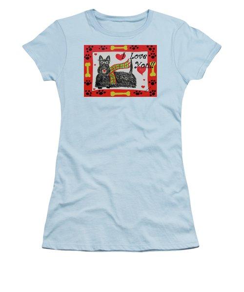 Puppy Love Women's T-Shirt (Junior Cut) by Diane Pape