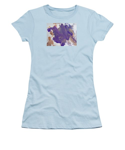 Women's T-Shirt (Junior Cut) featuring the painting Purple By Emma by Fred Wilson