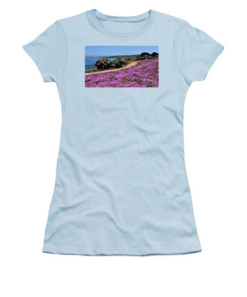 Purple Carpet Women's T-Shirt (Junior Cut) by Gina Savage