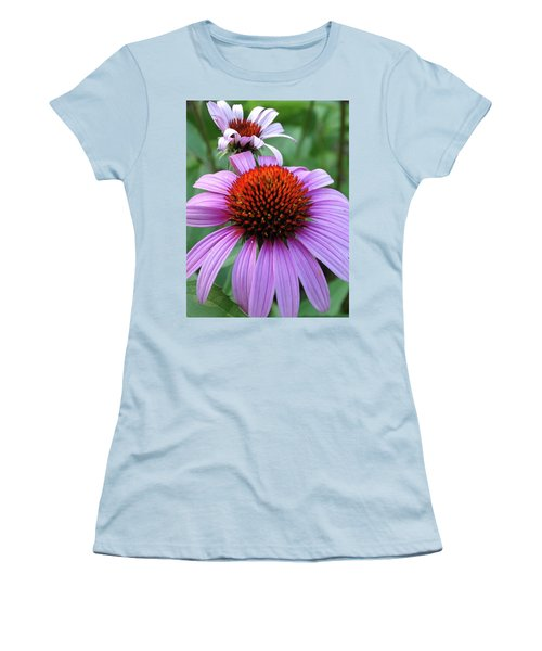 Purple Coneflowers Women's T-Shirt (Junior Cut) by Rebecca Overton