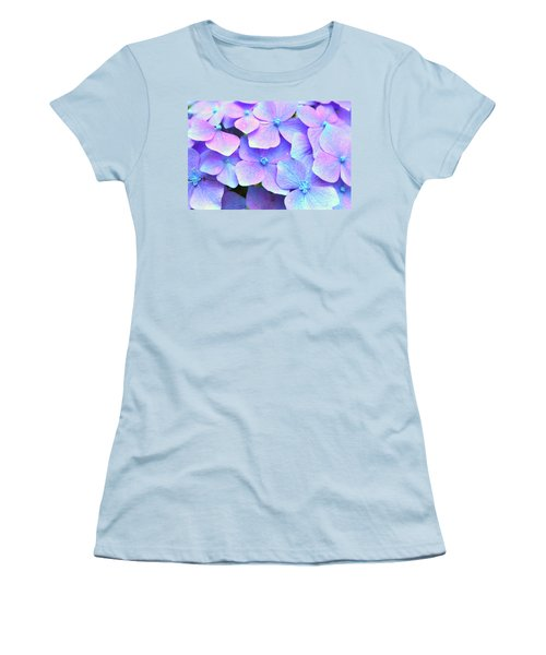 Purple Hydrangeas Women's T-Shirt (Athletic Fit)