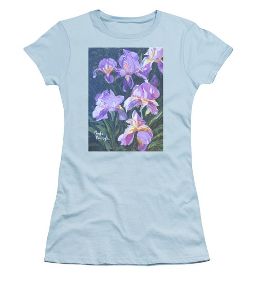 Purple Iris Women's T-Shirt (Athletic Fit)
