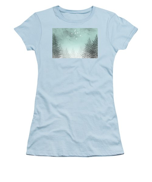 Women's T-Shirt (Junior Cut) featuring the painting Purpose Driven by Trilby Cole