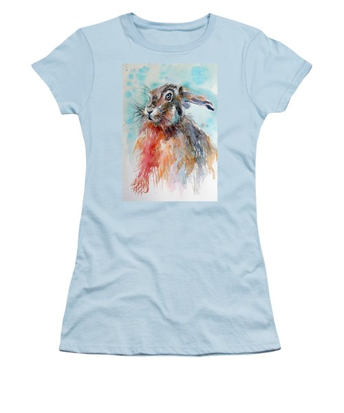Rabbit Women's T-Shirt (Junior Cut) by Kovacs Anna Brigitta