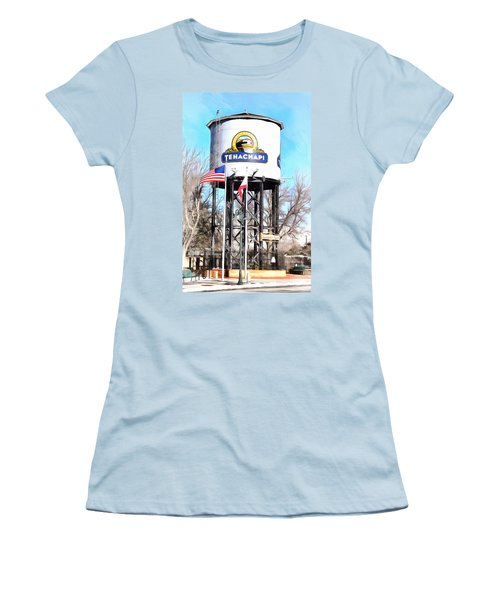 Women's T-Shirt (Junior Cut) featuring the photograph Railroad Park Tehachapi California by Floyd Snyder